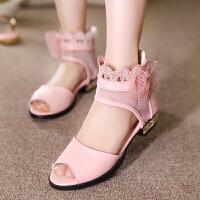 女童凉鞋夏季真皮儿童鞋小学生中大童公主