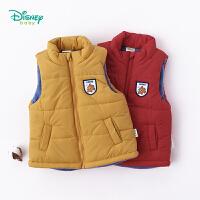 迪士尼Disney童装 儿童夹棉马甲秋冬新品小丑鱼尼莫前开扣保暖上衣男宝宝外套184S1020