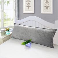 春秋季加厚法莱绒双人枕头套 保暖法兰绒珊瑚绒长枕套1.2m1.5m1.8米