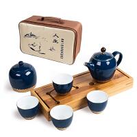 陶瓷干泡台茶盘套装便携简约小茶壶 家用日式旅行功夫茶具茶杯