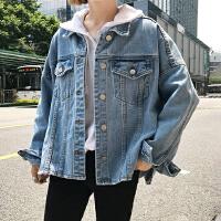 百搭学院风宽松显瘦长袖牛仔衣外套女春季新款薄款开衫夹克上衣潮