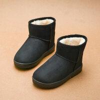 2018潮新款儿童加厚棉靴宝宝防滑靴子冬季女童雪地靴男童保暖短靴
