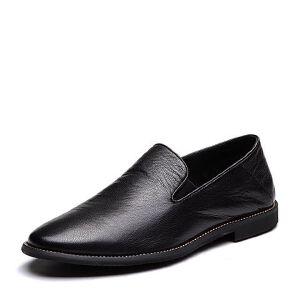 Tata/他她2018夏专柜同款牛皮简约方跟休闲男皮鞋S2503BM8