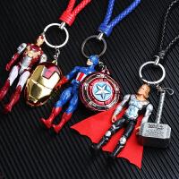 复仇者联盟钢铁侠男钥匙扣链车挂件男士蜘蛛侠公仔书包挂饰