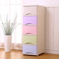 32宽夹缝抽屉式收纳柜塑料储物柜 儿童宝宝衣物整理柜组合衣柜