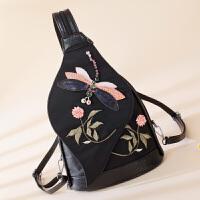 女包包新款迷你双肩包女胸包休闲小背包nft 黑色YK-X15蜻蜓背包
