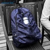 男士背包休闲运动旅行双肩包简约男帆布时尚潮流百搭小大学生书包