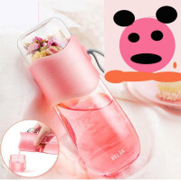 【支持礼品卡】物生物茶水分离泡茶杯女双层玻璃杯创意随手过滤水杯便携花茶杯子jh6