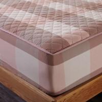 ???纯棉床笠加厚夹棉席梦思床罩保护套单件全棉床垫防滑1.5米1.8m床
