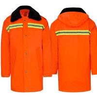 冬季环卫大衣防寒服工人棉衣加厚保暖棉大衣反光条服棉衣工作服xx 加厚可拆卸环卫大衣