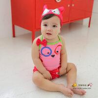小蜜蜂 儿童泳衣婴儿男童连体宝宝泳衣女孩1-3岁小童幼儿泳装