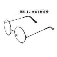 超轻圆形金属圆框平光镜框架眼镜 装饰眼镜架男女情侣款无度数潮