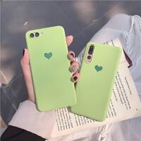 抹茶绿爱心小米9手机壳小米8青春/8指纹版软壳磨砂小米8se保护套 小米9 抹茶绿爱心