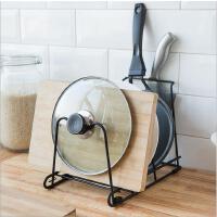 厨房收纳架锅具置物架子 多层锅架整理架 多功能锅盖架子