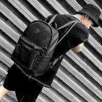 男士旅行双肩包休闲时尚潮流皮包电脑商务简约背包青年大学生书包