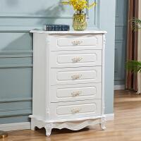 五斗柜欧式卧室白色收纳柜客厅雕花抽屉式五斗橱特价多功能储物柜