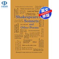 【预售英文原版】莎士比亚十四行诗和其他诗歌 Word Cloud Classics Shakespeare S Sonn