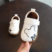 宝宝皮鞋卡通防水牛筋软底机能鞋 男童婴儿学步鞋周岁单鞋0-1-2岁