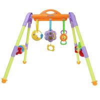婴儿健身架玩具0-1岁新生男孩女孩宝宝躺着的音乐脚踏脚踩钢琴器抖音