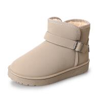 雪地靴女冬季短筒加绒加厚保暖女棉鞋2018韩版百搭学生平底短靴子