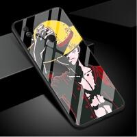 华为荣耀8x手机壳8xmax玻璃套航海王路飞男女款索隆海贼王八max潮牌个性创意动漫二次元钢化玻璃霸 【荣耀8x 】霸