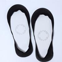 船袜女夏季薄款超浅口冰丝硅胶防滑短袜不掉跟无痕高跟鞋隐形袜子 黑色 5双 均码
