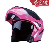 摩托车头盔男士全盔机车女士通用全覆式安全帽四季保暖揭面盔 均码