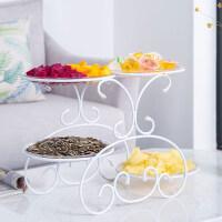 水果盘客厅创意家用干果盘糖果盘欧式多层分格水果篮甜品台展示架 年货节 4格盘