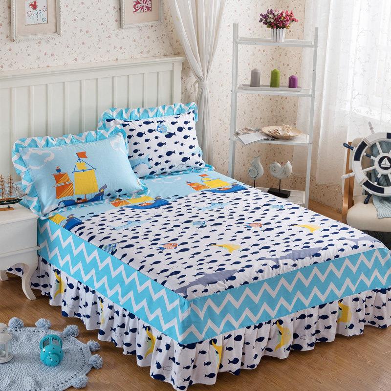 床裙床罩单件简约床盖床套床笠1.8米2.0m1.5床保护套