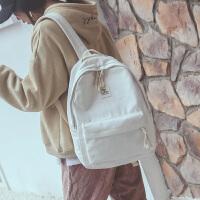 时尚双肩背包女潮韩软妹离家出走包初中学生书包帆布电脑包15.6寸