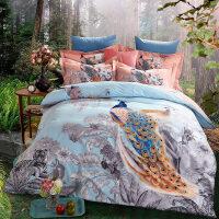 磨毛四件套加厚纯棉床上用品双人1.5米1.8m床单被罩4件套件