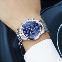 手表机械表男表防水商务休闲男士手表日历腕表全自动机械表