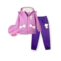 女童套装 儿童宝宝外套长裤子两件套女孩秋装冬装