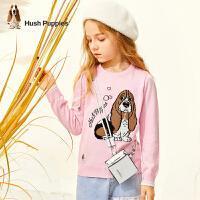 【预估券后价:82元】暇步士童装女童线衣春秋装新款甜美可爱儿童套头宝宝洋气上衣