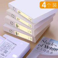名马档案盒白色透明A4文件盒加厚55mm塑料文件夹大试卷资料盒会计凭证收纳盒子学生文具办公用品批发