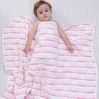 婴儿浴巾纱布洗澡新生儿毛巾被子宝宝盖毯抱被吸水儿童空调被 6层粉冠 110x110