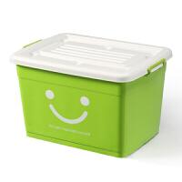 塑料整理箱特大号收纳箱被子衣物储物箱有盖 72*53*42 6个轮子带手提
