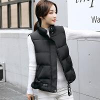 №【2019新款】年轻人穿的2018新款小马甲女秋冬装韩版短款黑色羽绒棉衣服白色学生背心外套