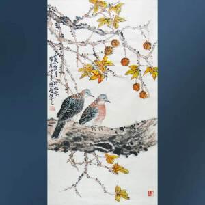 清华美院   冯维智   花鸟  1