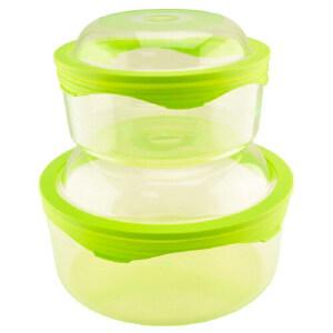 360°硅胶盖 鲜乐仕保鲜盒2件套(4P)SQ-0403 新芽绿