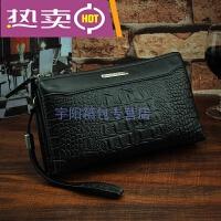 香港潮牌长款男士钱包时尚潮男拉链手拿包横款商务手提包多功能钱夹手机包