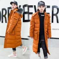 大童冬装女儿童羽绒男童2018新款韩版女童长款过膝棉衣冬训