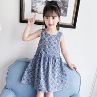 女童裙子新款韩版复古洋气裙子宝宝夏季碎花纯棉连衣裙