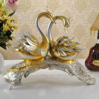 天鹅客厅创意家居装饰品摆件结婚礼物欧式工艺品电视柜酒柜办公桌