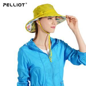 【保暖节-狂欢继续】法国PELLIOT户外防晒帽女 夏季沙滩帽骑行太阳帽透气遮阳帽户外帽