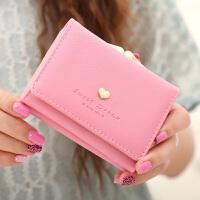女士钱包女短款三折清新女式小钱包零钱包学生皮夹