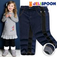 韩国童装Jelispoon2017冬季新款女童裤子人气加绒打底裤
