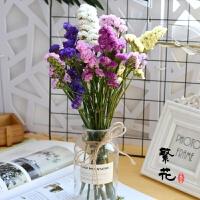 干花花束带花瓶套装真花玫瑰康乃馨勿忘我水晶草情人草客厅摆设 干花包