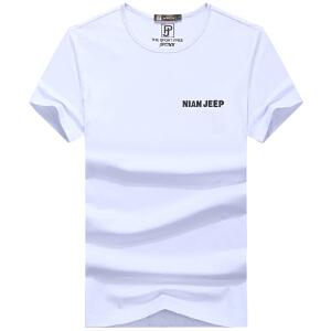 90312吉普盾夏装薄款圆领短袖T恤衫 男士时尚休闲宽松大码polo衫