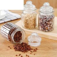 0509051620049保鲜罐茶叶罐储物罐花茶防潮收纳罐透明玻璃密封罐带盖厨房食品